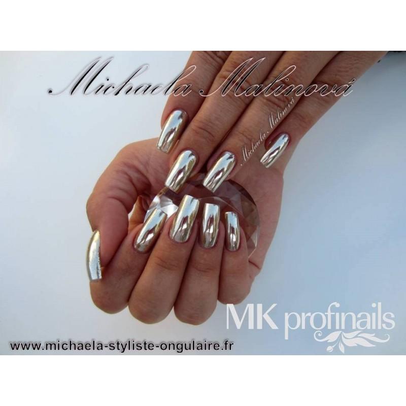 Pigment chrome m tallique for Laque effet miroir