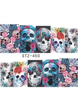 Water Decal Sugar Skull