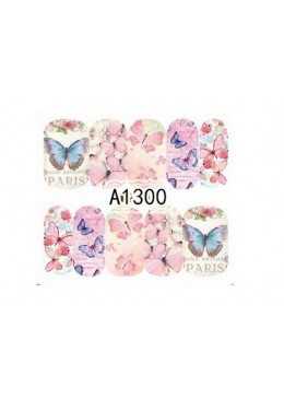 Water Decal papillon