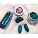 Blown Glitter Vert Turquoise