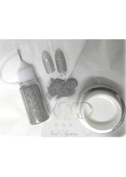 Blown Glitter Holosilver