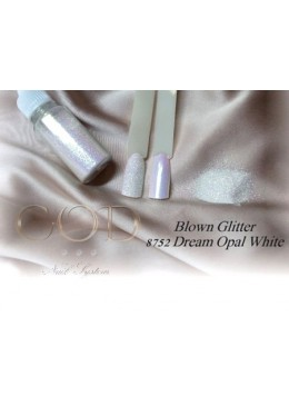 Blown Glitter Dreal Opal White