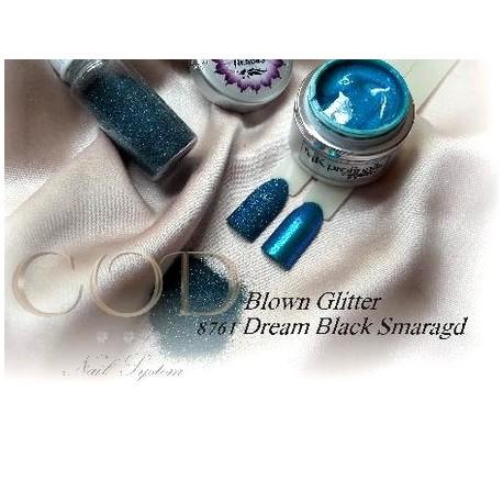 Blown Glitter Dream Black Smaragd