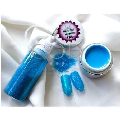 Blown Glitter Turquoise