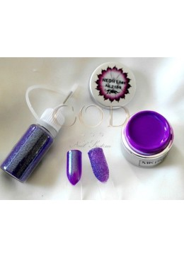 Blown Glitter Purple