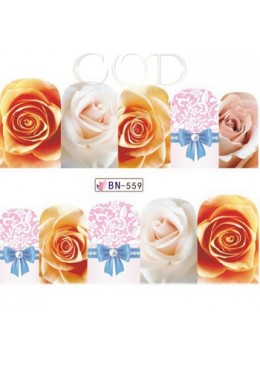 Water decal rose