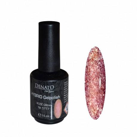 Hybrid gel Polish rosé Glitter