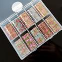 Box Mix Foil Flowers