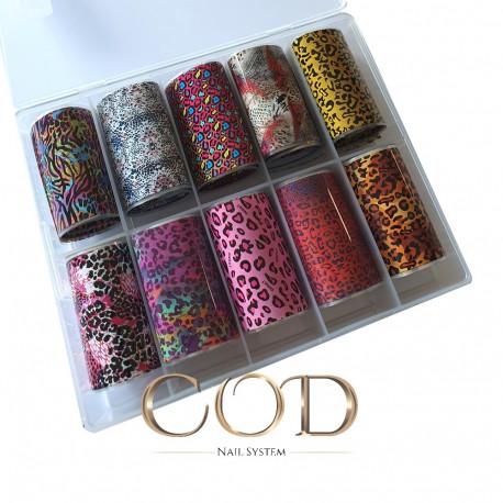 Box Mix Foil Leopard Girl