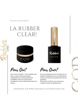 Rubber Base Clear Jar 30 ml